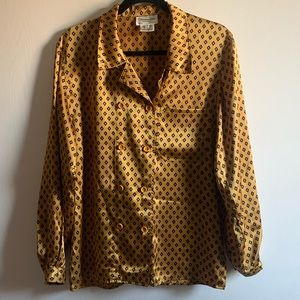 Christian Dior Separates Marigold Button-up Top